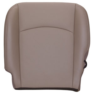 FACTORY-MATCH BOTTOM SEAT COVER (PEBBLE BEIGE) - LEATHER/VINYL - DRIVER SIDE BUCKET WF ('10-'12, 2500/3500 LARAMIE, ALL CABS)