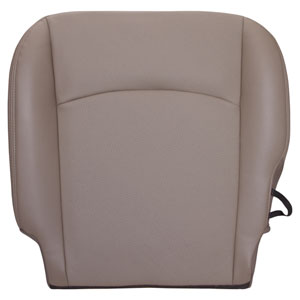 FACTORY-MATCH BOTTOM SEAT COVER (PEBBLE BEIGE) - LEATHER/VINYL - DRIVER SIDE BUCKET ('10, 2500/3500 LARAMIE, ALL CABS)