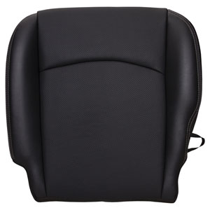 FACTORY-MATCH BOTTOM SEAT COVER (DARK SLATE) - LEATHER/VINYL - DRIVER SIDE BUCKET WF ('10-'12, 2500/3500 LARAMIE, ALL CABS)