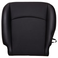FACTORY-MATCH BOTTOM SEAT COVER (DARK SLATE) - LEATHER/VINYL - DRIVER SIDE BUCKET ('10-'12, 2500/3500 LARAMIE, ALL CABS)