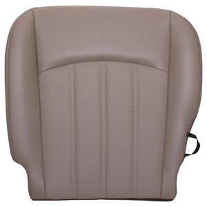 FACTORY-MATCH BOTTOM SEAT COVER (PEBBLE BEIGE) - LEATHER/VINYL - DRIVER SIDE 40/20/40 ('10-'12, 2500/3500 LARAMIE, ALL CABS)