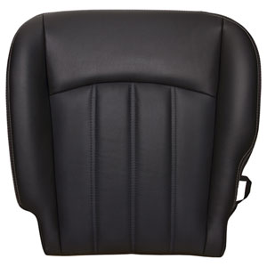 FACTORY-MATCH BOTTOM SEAT COVER (DARK SLATE) - LEATHER/VINYL - DRIVER SIDE 40/20/40 ('10-'12, 2500/3500 LARAMIE, ALL CABS)