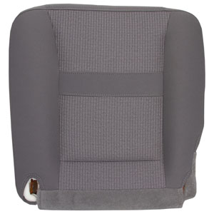 FACTORY-MATCH BOTTOM SEAT COVER (MEDIUM SLATE) - CLOTH - DRIVER SIDE 40/20/40 & BUCKETS  ('06-'09, 2500/3500 SLT, ALL CABS & 1500, MEGA-CAB)