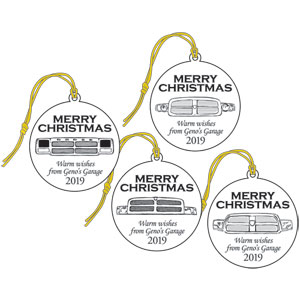 "2019 GENO'S GARAGE CHRISTMAS ORNAMENT ""GRILL"" COLLECTION"
