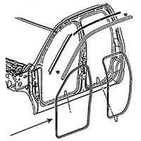 Dodge Ram Front Door Seals - Quad & Mega Cab - 55277294