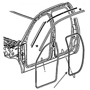 REAR DOOR SEAL, DRIVER OR PASSENGER - MOPAR ('03-'09, QUAD CAB)