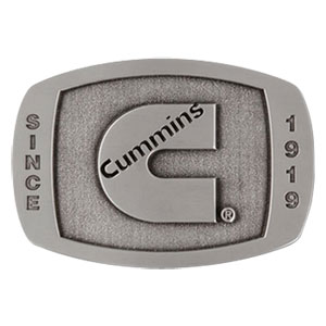 CUMMINS 1919 PEWTER BELT BUCKLE