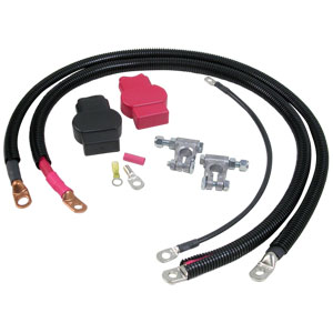 HEAVY DUTY BATTERY CABLE KIT - SINGLE BATTERY ('89-'93)