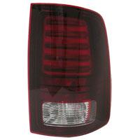 TAIL LIGHT - LED - PASSENGER - MOPAR ('13-'18, 2500/3500 W/BLACK HOUSING)