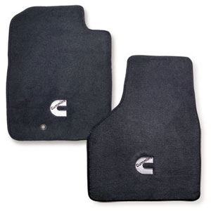 FLOOR MATS - AVERY'S - CUMMINS 'C' - FRONT ('03-'09, ALL CABS) (BLEMISHED)