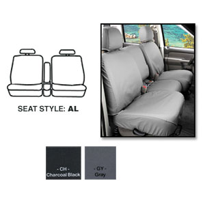 SEATSAVERS - FRONT- COVERCRAFT ('19-'20, 1500, ALL CABS) 40/20/40, W/ADJ HDRST, FOLD DOWN CONSOLE