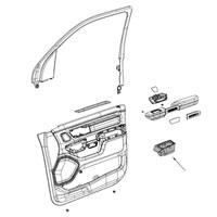 Ram 1500 MOPAR Passenger Side Door Pocket Cup Holder 5YK47TX7