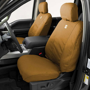 CARHARTT SEATSAVERS - FRONT - COVERCRAFT ('19-'20, 1500, ALL CABS) BUCKET SEATS, W/ADJ HDRST, SEAT AIRBAGS