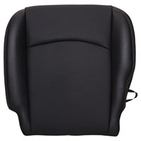 FACTORY-MATCH BOTTOM SEAT COVER (BLACK) - LEATHER/VINYL - DRIVER SIDE BUCKET & 40/20/40 ('13-'17, LARAMIE/SPORT/NIGHT EDITION)