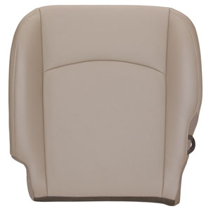 FACTORY-MATCH BOTTOM SEAT COVER (BEIGE) - LEATHER/VINYL - DRIVER SIDE BUCKET & 40/20/40 ('13-'17, LARAMIE/SPORT)
