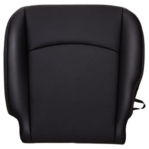 FACTORY-MATCH BOTTOM SEAT COVER (DARK SLATE) - LEATHER - DRIVER SIDE BUCKET WF ('10-'12, 2500/3500 LARAMIE, ALL CABS)