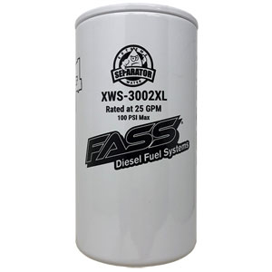 FASS, WATER SEPARATOR, 150 SERIES, TITANIUM, EXTENDED LENGTH