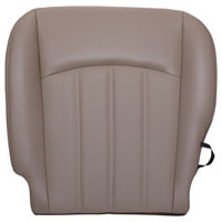 FACTORY-MATCH BOTTOM SEAT COVER (PEBBLE BEIGE) - ALL LEATHER - DRIVER SIDE 40/20/40 ('10-'12, 2500/3500 LARAMIE, ALL CABS)
