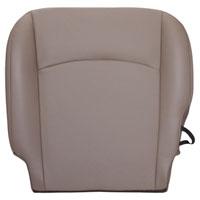 FACTORY-MATCH BOTTOM SEAT COVER (PEBBLE BEIGE) - ALL LEATHER - DRIVER SIDE BUCKET ('10, 2500/3500 LARAMIE, ALL CABS)
