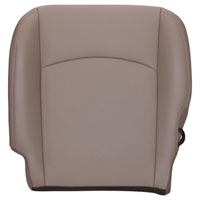 FACTORY-MATCH BOTTOM SEAT COVER (PEBBLE BEIGE) - ALL LEATHER - DRIVER SIDE BUCKET WF ('10-'12, 2500/3500 LARAMIE, ALL CABS)