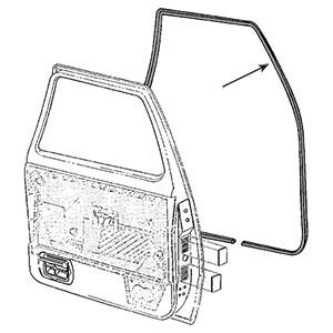 FRONT DOOR SEAL - DRIVER OR PASSENGER - MOPAR ('89-'93)