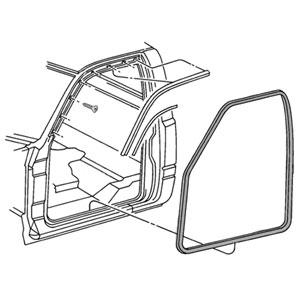 FRONT DOOR SEALS - DRIVER/PASSENGER - MOPAR ('94-'02,2500/3500 REGULAR/EXTENDED CAB)