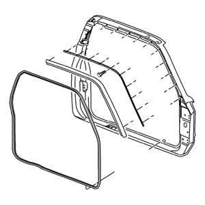 FRONT DOOR SEAL - PASSENGER SIDE - MOPAR ('94-'02, 2500/3500 QUAD CAB)