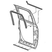 GLASS RUN CHANNEL SEAL - DRIVER SIDE, REAR - MOPAR ('03-'09, QUAD CAB)