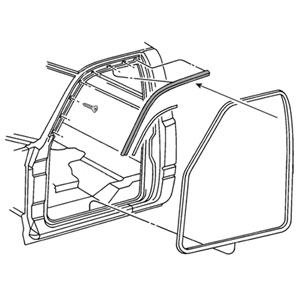 BODY SIDE WEATHERSTRIP - DRIVER SIDE - MOPAR ('94-'02, REG. & EXT. CAB)