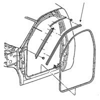 BODY SIDE WEATHERSTRIP - DRIVER SIDE - MOPAR ('03-'09, 2500/3500 REGULAR CAB)