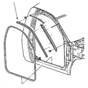 BODY SIDE WEATHERSTRIP - PASSENGER SIDE - MOPAR ('03-'09, 2500/3500 REGULAR CAB)