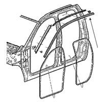 BODY SIDE WEATHERSTRIP - DRIVER SIDE - MOPAR ('03-'09, 2500/3500 QUAD CAB)