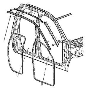 BODY SIDE WEATHERSTRIP - PASSENGER SIDE ('03-'09, 2500/3500 QUAD CAB)