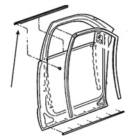 SIDE WINDOW DOOR BELTLINE SEAL - DRIVER, FRONT - MOPAR ('03-'09, QUAD CAB & '06-'09, MEGA CAB)