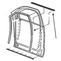 SIDE WINDOW DOOR BELTLINE SEAL - PASSENGER, FRONT - MOPAR ('03-'09, QUAD CAB & '06-'09, MEGA CAB)