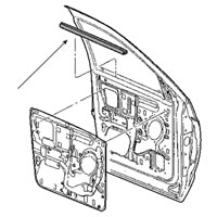 SIDE WINDOW BELTLINE INSIDE SEAL - DRIVER/PASS, FRONT - MOPAR ('03-'09, QUAD CAB)