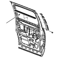 SIDE WINDOW BELTLINE INSIDE SEAL - DRIVER/PASSENGER - MOPAR ('06-'09, MEGA CAB)