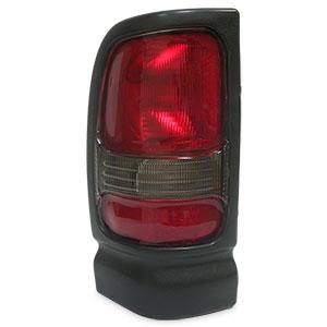 TAIL LIGHT - DRIVER SIDE - DEPO ('94-'02, 2500/3500 & '94-'01, 1500) NON-SPORT W/TEXTURED BLACK BEZEL