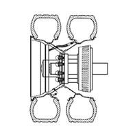 Dual Rear Wheel Inner Valve Stem Extensions
