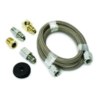 LINE KIT, #4 BRAIDED STAINLESS STEEL - AUTOMETER