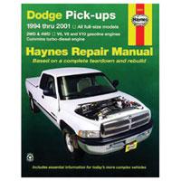 REPAIR MANUAL - HAYNES  ('94 - '02, 2500/3500 & '94 - '01, 1500)