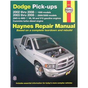 REPAIR MANUAL - HAYNES  ('03 - '08, 2500/3500 & '02 - '08, 1500)