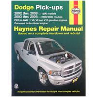 REPAIR MANUAL - HAYNES  ('03 - '08, 2500/3500 & '02 - '08, 1500)