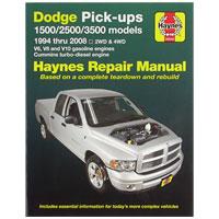 REPAIR MANUAL - HAYNES  ('94-'08, 2500/3500 & '94-'08, 1500)