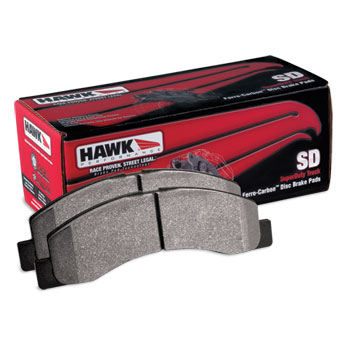 BRAKE PADS - HAWK - SUPER DUTY -  FRONT  ('94-'99, SEE DESCRIPTION)