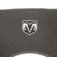 Dodge Ram Quad Cab MOPAR Rear Floor Mat - Gray 82207049AB