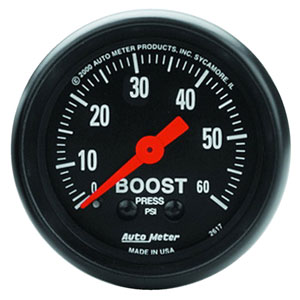 BOOST GAUGE,  60PSI - AUTOMETER - Z SERIES