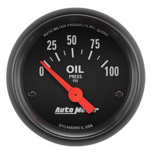 OIL PRESSURE GAUGE,  100PSI - AUTOMETER - Z SERIES