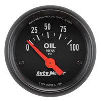 OIL PRESSURE GAUGE,  100PSI - AUTOMETER - Z SERIES