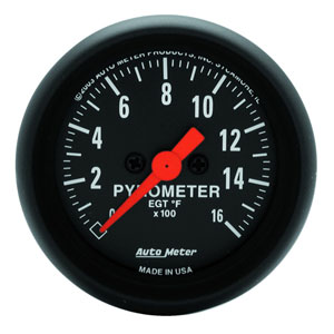 EXHAUST GAS TEMPERATURE GAUGE (0-1600 DEG) AUTOMETER -  Z SERIES